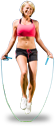 Girl with jumprope